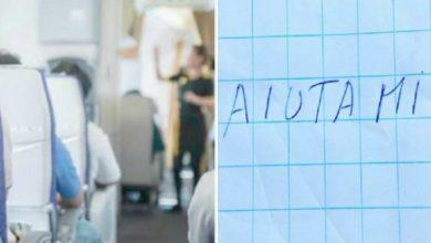 """Ragazzina scrive """"Aiuto"""" nella toilette dell'aereo. L'hostess interviene tempestivamente ."""