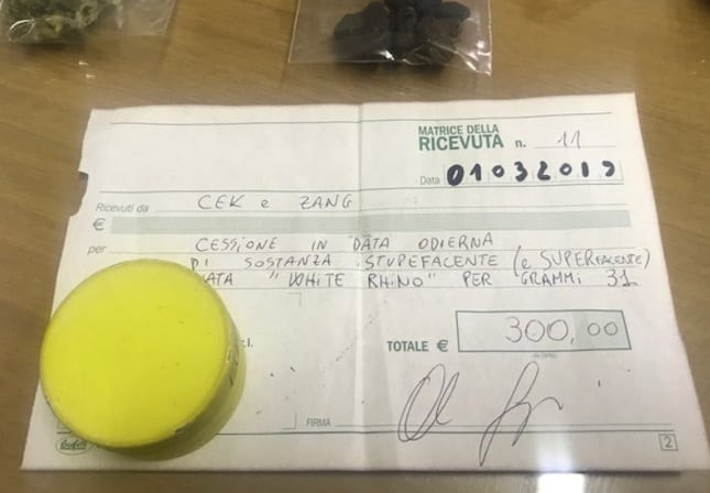 Ricevuta fiscale per spaccio di droga succede ad Arezzo