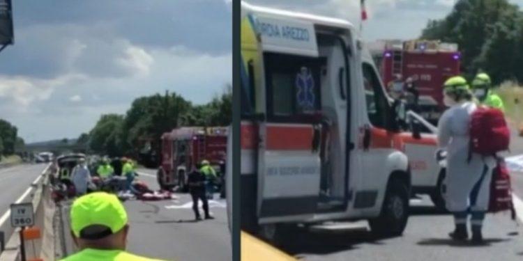 Arezzo:Tragedia in Autostrada A1 incidente 4 morti 2 bambini